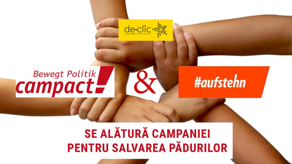 Campact și #Aufstehn se alătură campaniei pentru salvarea pădurilor