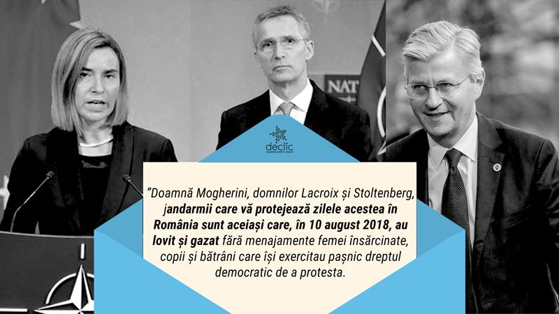 Mii de plângeri împotriva jandarmilor, trimise de români liderilor UE, NATO și ONU prezenți în țara noastră zilele acestea