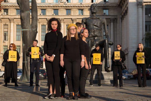 Flashmob pentru eficientizarea 112
