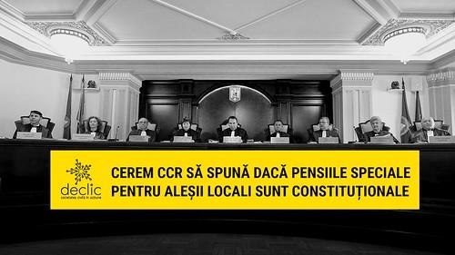 Cerem CCR să spună dacă pensiile speciale pentru primari sunt constituționale