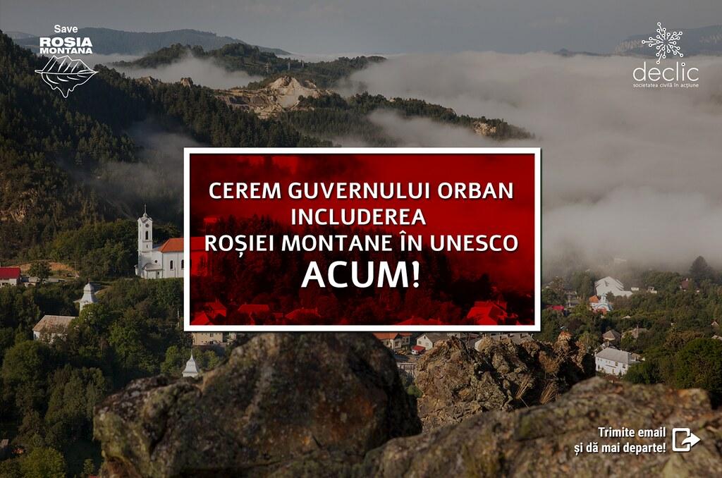 Cerem Guvernului Orban includerea Rosiei Montane in UNESCO acum