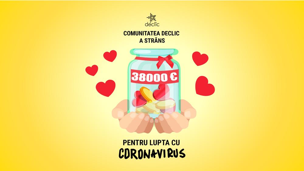 membrii Declic au donat 38000 pentru echipamente de protecție coronavirus