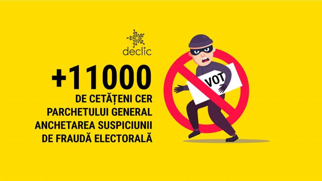 Peste 11.000 de oameni cer Parchetului General să ancheteze acuzațiile de fraudă electorală
