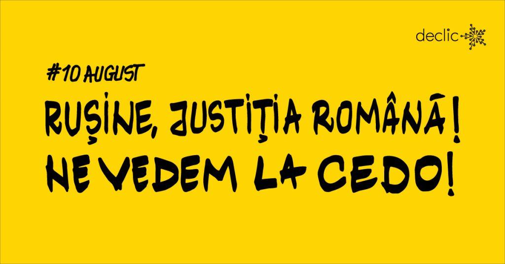 Rușine, Justiția Română! Ne vedem la CEDO!
