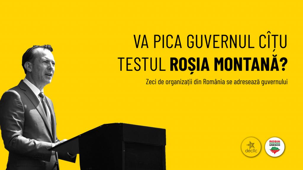 """Va pica guvernul Cîțu testul """"Roșia Montană""""?"""